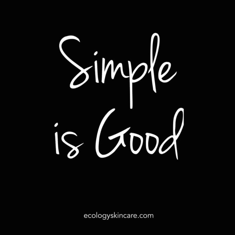 Simple is good Ecology Skincare