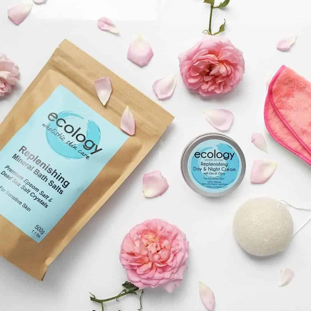 Mothers Day Pamper Pack 1 Bath Salt Organik 500gr Ecology Konjac Facial Sponge
